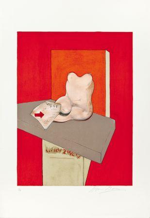 Litografía Bacon - Etude de corps humain d'après Ingres