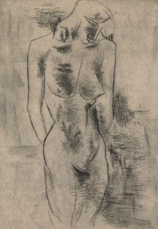 Grabado Braque - Etude de nu
