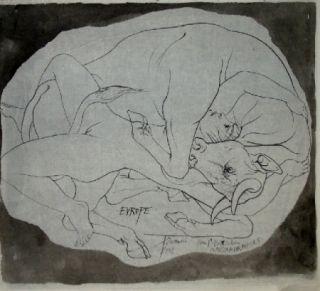 Litografía Trémois - Europe et les Metamorphoses