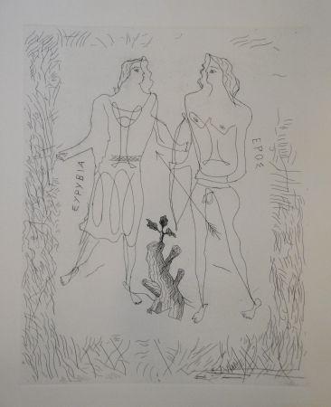Grabado Braque - Eurybia et Eros.