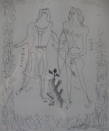 Aguafuerte Braque - Eurybia et Eros