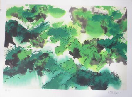 Litografía Po Chung - Evergreen moutain