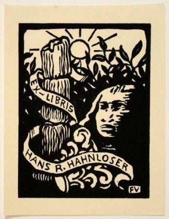 Grabado En Madera Vallotton - Ex-Libris Hans R. Hahnloser