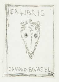 Aguafuerte Giacometti - Ex Libris Du Bibliophile Edmond Bomsel.
