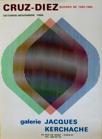 Serigrafía Cruz-Diez - EXP jACQUES kERCHACHE 1965