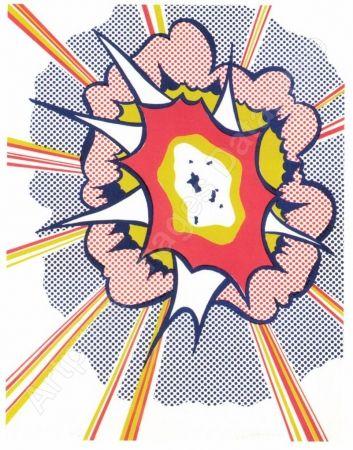Litografía Lichtenstein - Explosion