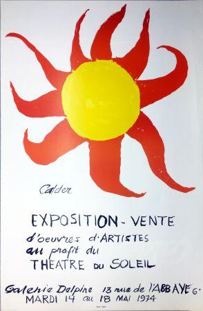 Cartel Calder - Expo-vente au profit du Théâtre du Soleil à la Galerie Delpire en 1974.