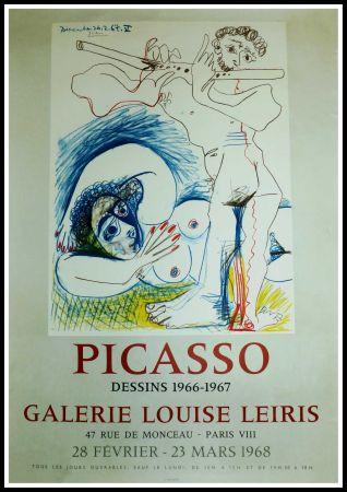 Cartel Picasso - EXPO 1968 GALERIE LOUISE LEIRIS