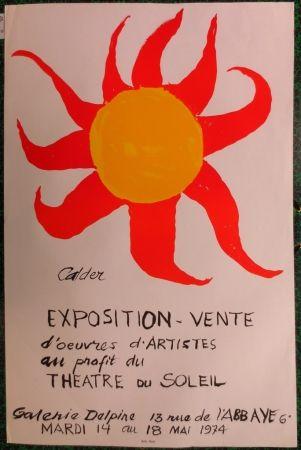 Litografía Calder - Expo 74 - Galerie Delpire  au profit du théâtre du soleil
