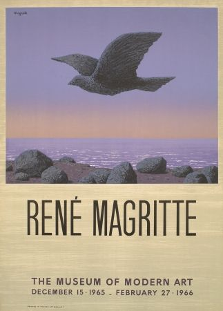 Litografía Magritte - Exposition au MOMA