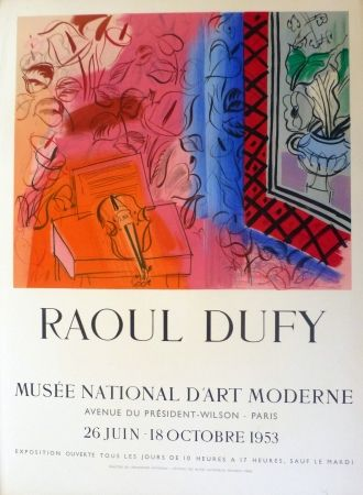Litografía Dufy - Exposition au musée national d'art moderne,Paris 1953