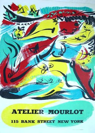 Litografía Masson - '' Exposition chez Mourlot NYC ''