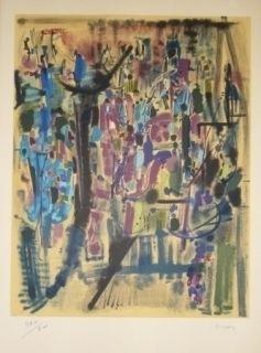 Litografía Bryen - Exposition CNAC 1971