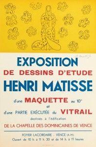 Litografía Matisse - Exposition de dessins d'étude ,Vence