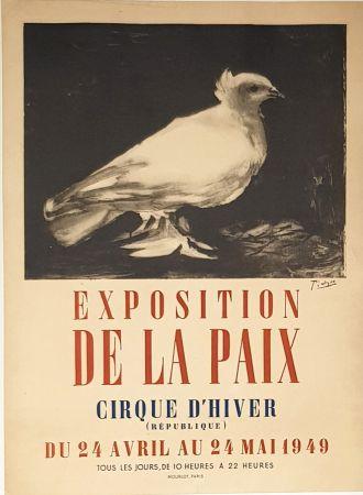 Litografía Picasso - Exposition de la Paix