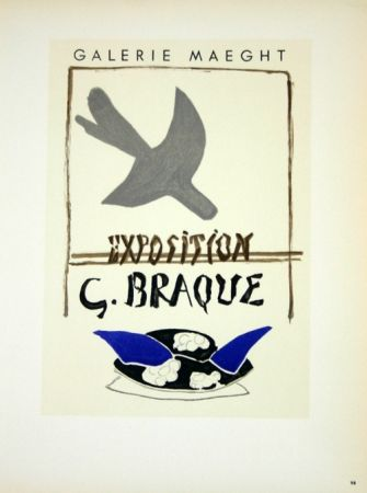 Litografía Braque - Exposition G Braque