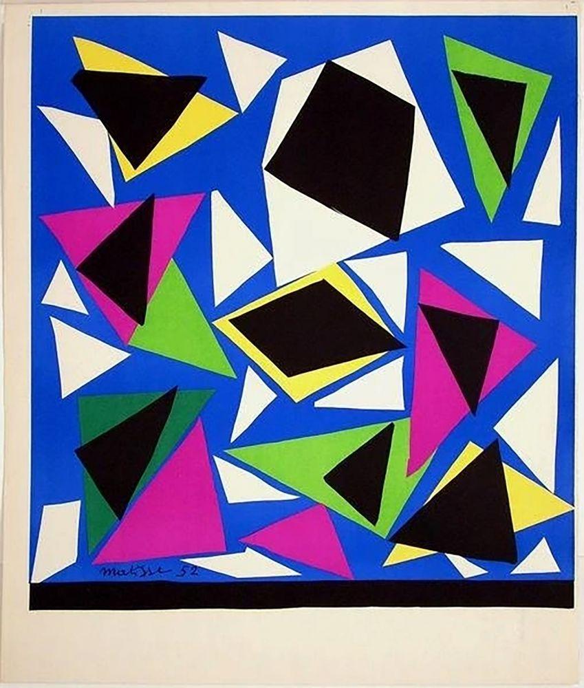Litografía Matisse - Exposition Galerie Kléber 1952. Épreuve de luxe avant la lettre sur vélin d'Arches