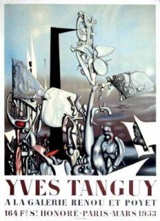 Cartel Tanguy - Exposition Galerie Renou et Poyet