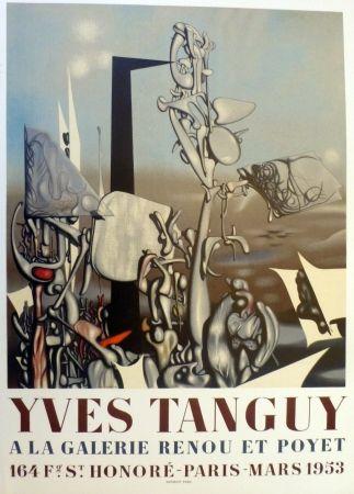 Litografía Tanguy - Exposition galerie Renou et Poyet 1953