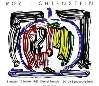 Cartel Lichtenstein - Exposition galerie Templon