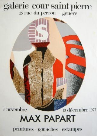 Litografía Papart - Exposition genvève 1976