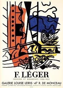 Litografía Leger - Exposition Louise Leiris 1958