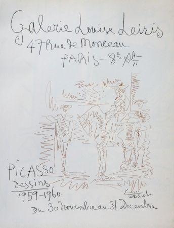 Litografía Picasso - Exposition louise leiris 1960