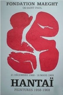 Litografía Hantai - Exposition saint pol de vence