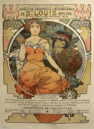 Litografía Mucha - Exposition Universelle et Internationale  St Louis USA