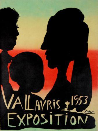 Litografía Picasso - Exposition Vallauris 1953