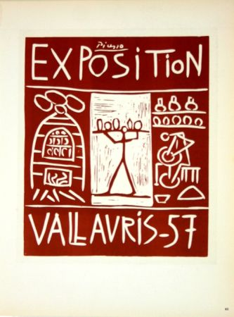 Litografía Picasso (After) - Exposition Vallauris 1957