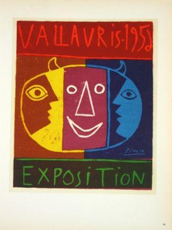 Litografía Picasso - Exposition Vallauris 1958