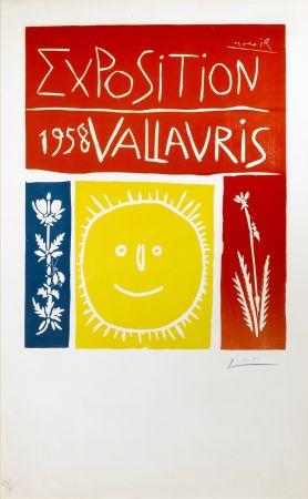 Linograbado Picasso - Exposition Vallauris 1958