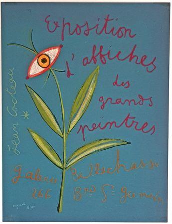 Litografía Cocteau - Expositions D'affiches des Grands Peintre