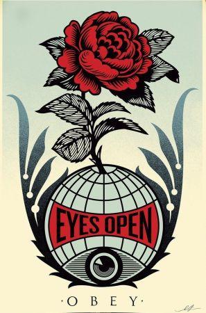 Litografía Fairey - Eyes Open