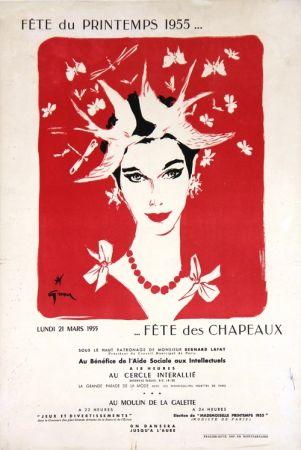 Litografía Gruau - Fête du Printemps,Fête des Chapeaux