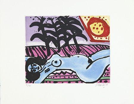 Grabado Corneille - Fête tropicale