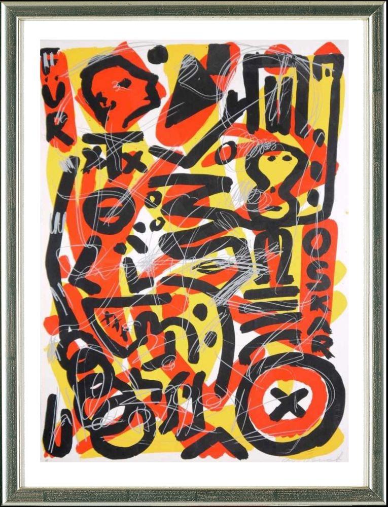 Serigrafía Penck - Für Oskar