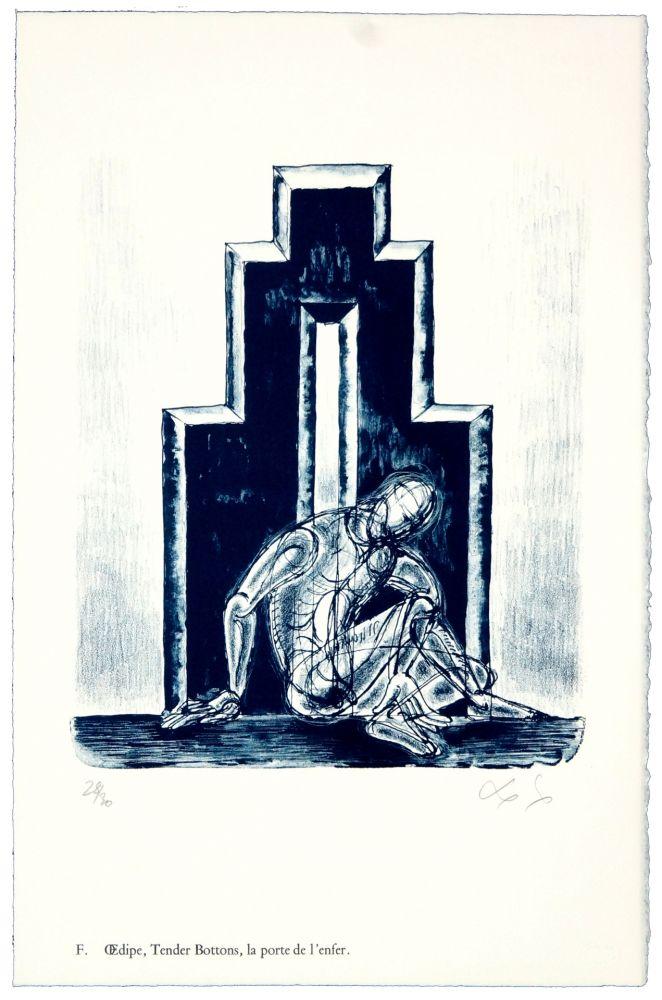 Litografía Nørgaard - F. Œdipe, Tender Bottoms, la porte de l'enfer.