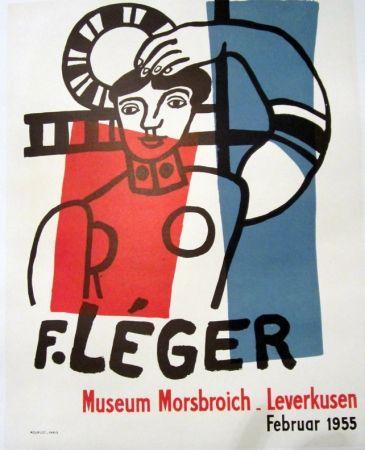 Litografía Leger - F. Leger, Museum MOrsbroich_Leverkusen, Februar 1955