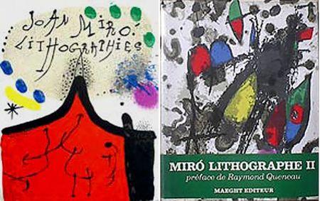 Libro Ilustrado Miró - F. Mourlot. - P. Cramer: MIRO LITHOGRAPHE I - IV. 1930 - 1972 (catalogue raisonné des lithographies 1930-1972)