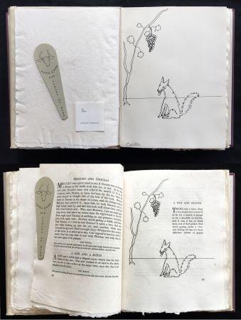 Libro Ilustrado Calder - FABLES OF ÆSOP (1931), 1 des 50 avec dessin original.