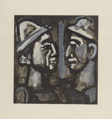 Litografía Rouault - FACE A FACE, 1933