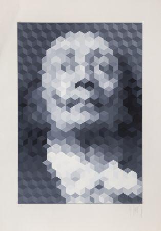 Serigrafía Yvaral - Face of Dali