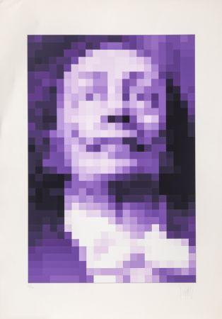 Serigrafía Yvaral - Face of Dali - Purple