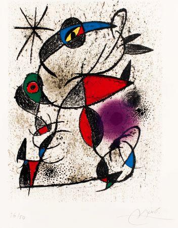 Litografía Miró -  Faillie du calcaire