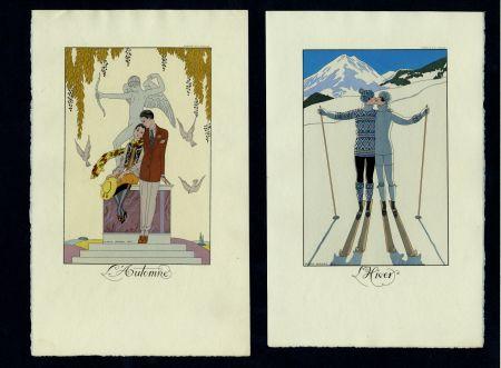 Libro Ilustrado Barbier - FALBALAS ET FANFRELUCHES. Almanach des modes présentes, passées et futures pour 1922, 1923, 1924, 1925 et 1926. Collection complète