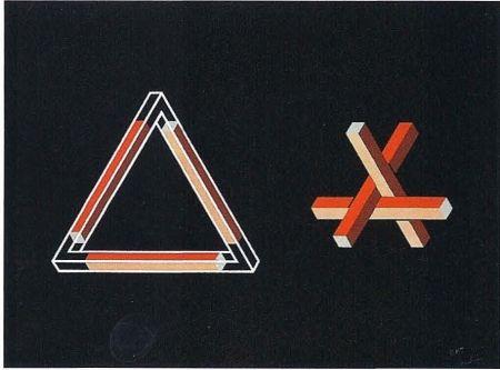 Litografía Molins - Falsaciones del triangulo de Penrose 10