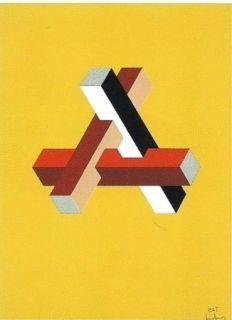 Litografía Molins - Falsaciones del triangulo de Penrose 11