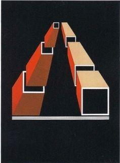 Litografía Molins - Falsaciones del triangulo de Penrose 14